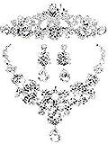 (プレクラースナ)お洒落 ネックレス ピアス ティアラ 3点 セット 結婚式 ベリー ダンス 衣装 パーティー アクセサリー