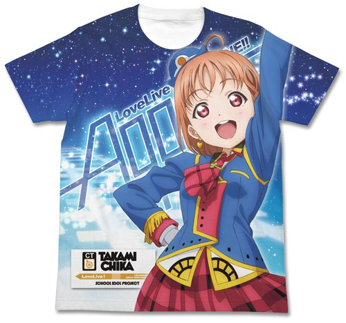 ラブライブ!サンシャイン!! 高海千歌フルグラフィックTシャツ HAPPY PARTY TRAIN Ver. ホワイト Mサイズ
