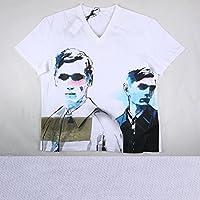 PRADA Vネック半袖Tシャツ UJN241 white XXL【A14292】 プラダ [並行輸入品]