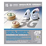 【中国移動香港】4G/3G 香港/中国デュアルナンバープリペイドSIM$120 [並行輸入品]