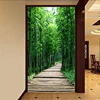 Xueshao カスタム写真の壁紙グリーン竹林小さな道路3Dの壁画リビングルームの入り口の廊下の装飾壁画壁紙-280X200Cm