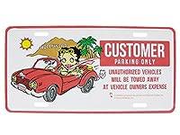 ブリキ看板 ベティ オープンカー(Betty Boop/CMP-004)
