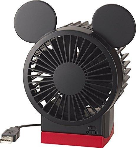 リズム時計 USB接続ファン ミッキーfan 9ZF007MC
