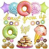 ドーナツ誕生日飾り キャンディ アイスクリーム 女の子 食べ物 甘物 スター 星 ケーキトッパー バナー アルミバルーン 風船 10つセット
