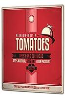 ブリキ看板 Tin Sign Metal plate plaque XXL Food Restaurant Tomatoes