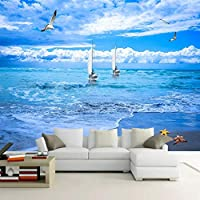 Xxzzdn ビーチシースケープ3D写真壁紙用リビングルームレストランホテルの寝室の背景壁画カスタム壁画-250X175CM