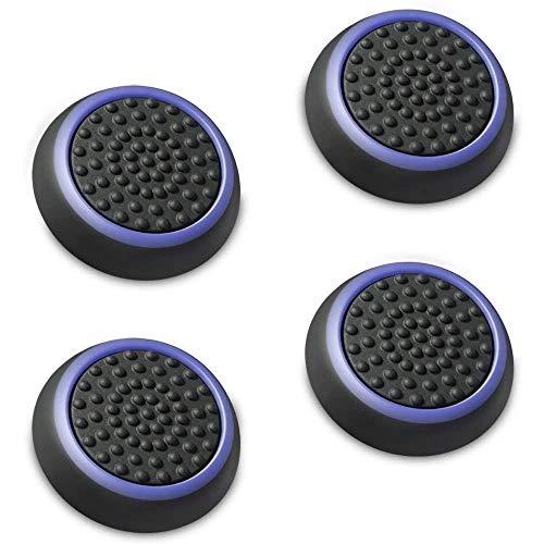 アナログスティック 保護カバー (4個セット / パープル + ブラック) ジョイスティックカバー アシストキャップ PS4 / PS3 / Xbox 360 / Nintendo Wii U, Wii Nunchuck 対応 コントローラー専用