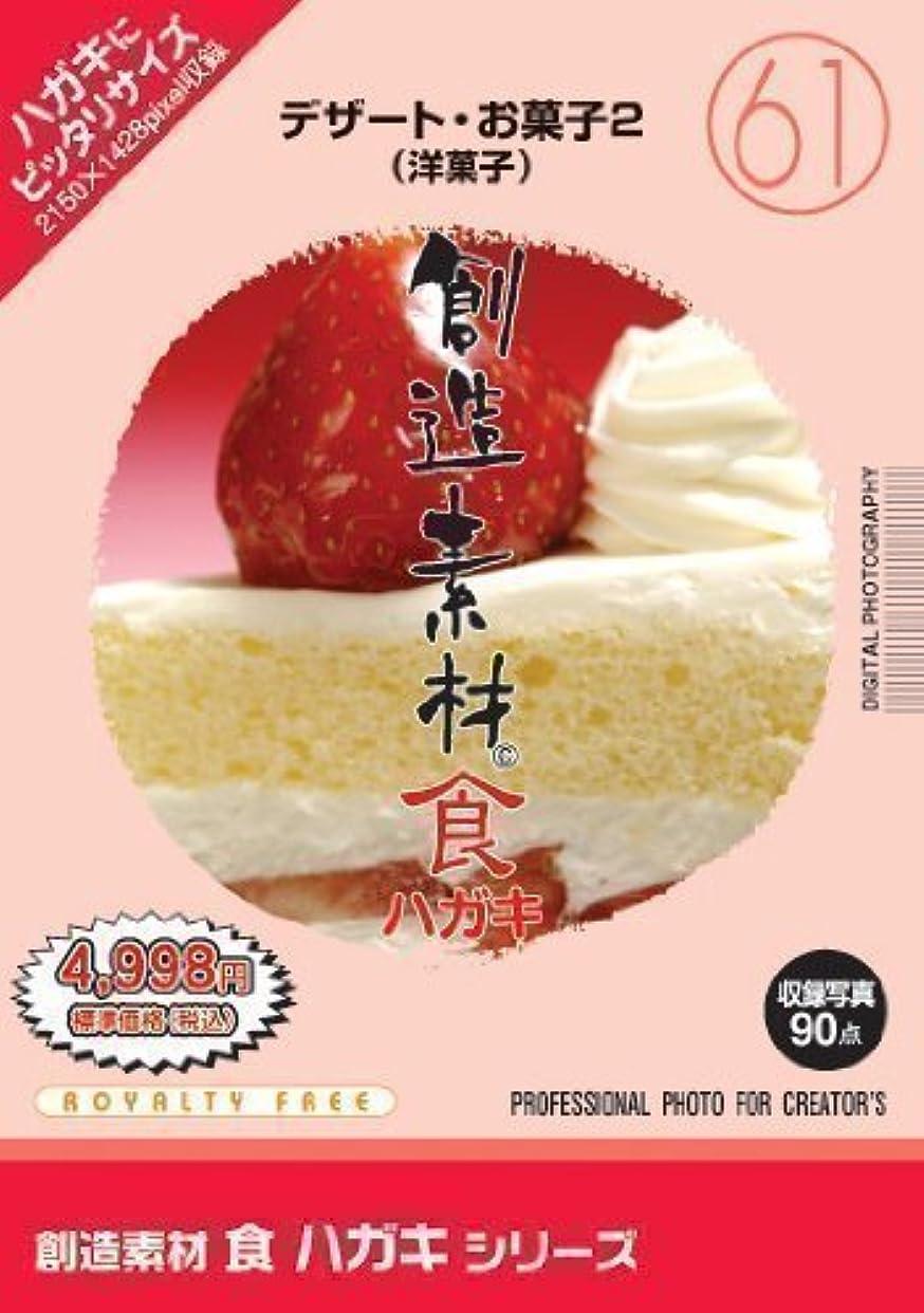 変わる狂人バイナリイメージランド 創造素材 食ハガキ(61)デザート?お菓子2(洋菓子