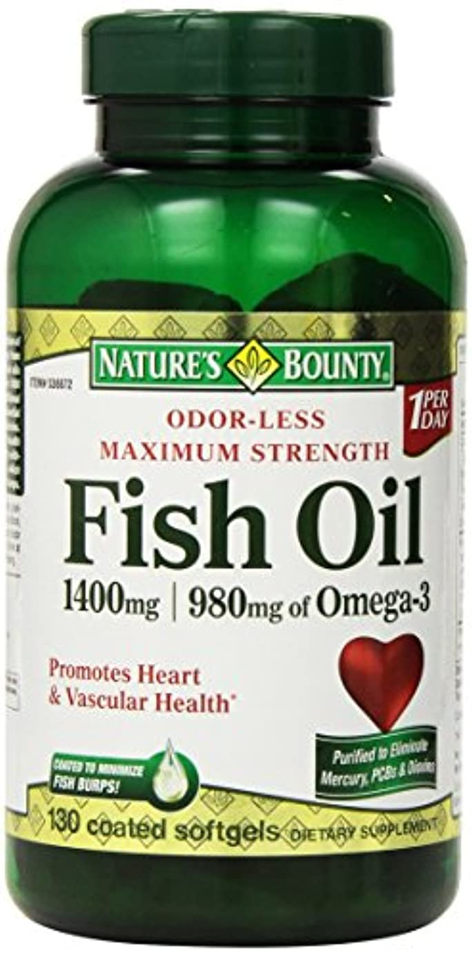 熟練した港誘うNature's Bounty Fish Oil 1400 mg 130粒