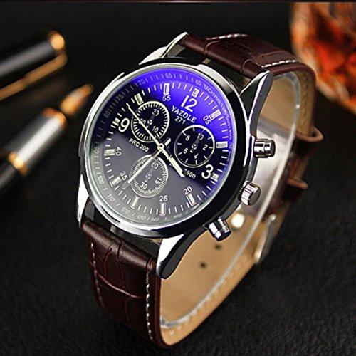 buy online 30805 27be6 高級ブルーレイガラス腕時計メンズウォッチ男の子時計ビジネス ...