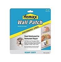 Homaxグループ5508Heavy Duty自己粘着ウォール修復パッチ、8インチx 8インチ 4in x 4in (6 Pack) 5504