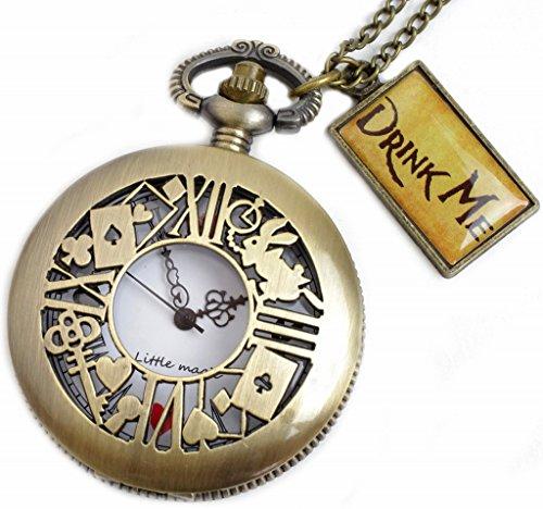 [リトルマジック] B級品 白文字盤 時計うさぎ 日本メーカー製クオーツ【正規品】アンティーク アリス 懐中時計