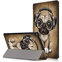 Anvas Utral Slim Lightweight Shell Standing Case for Amazon Fire HD 8 8th (2018 Release) / 7th (2017 Release) Smart Cover with Auto Wake/Sleep Feature,Cute Dog