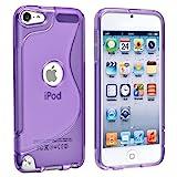 【アウトレット】Apple iPod touch 5 アウトドアスタイルケース (アイポッドタッチ 2012年 第5世代 iPod 5th 対応) Outdoor Style TPU Case ロゴカットデザイン + 液晶保護フィルム1枚【Clear Purple(紫)】