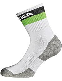 STIGA(スティガ) 卓球 プライムソックス ホワイト/ブラック/グリーン JRサイズ 1950-0360-70