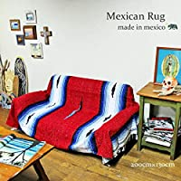 RUG&PIECE メキシコ製 ネイティブ柄 メキシカンラグマット 200cm×130cm (rug-6533)