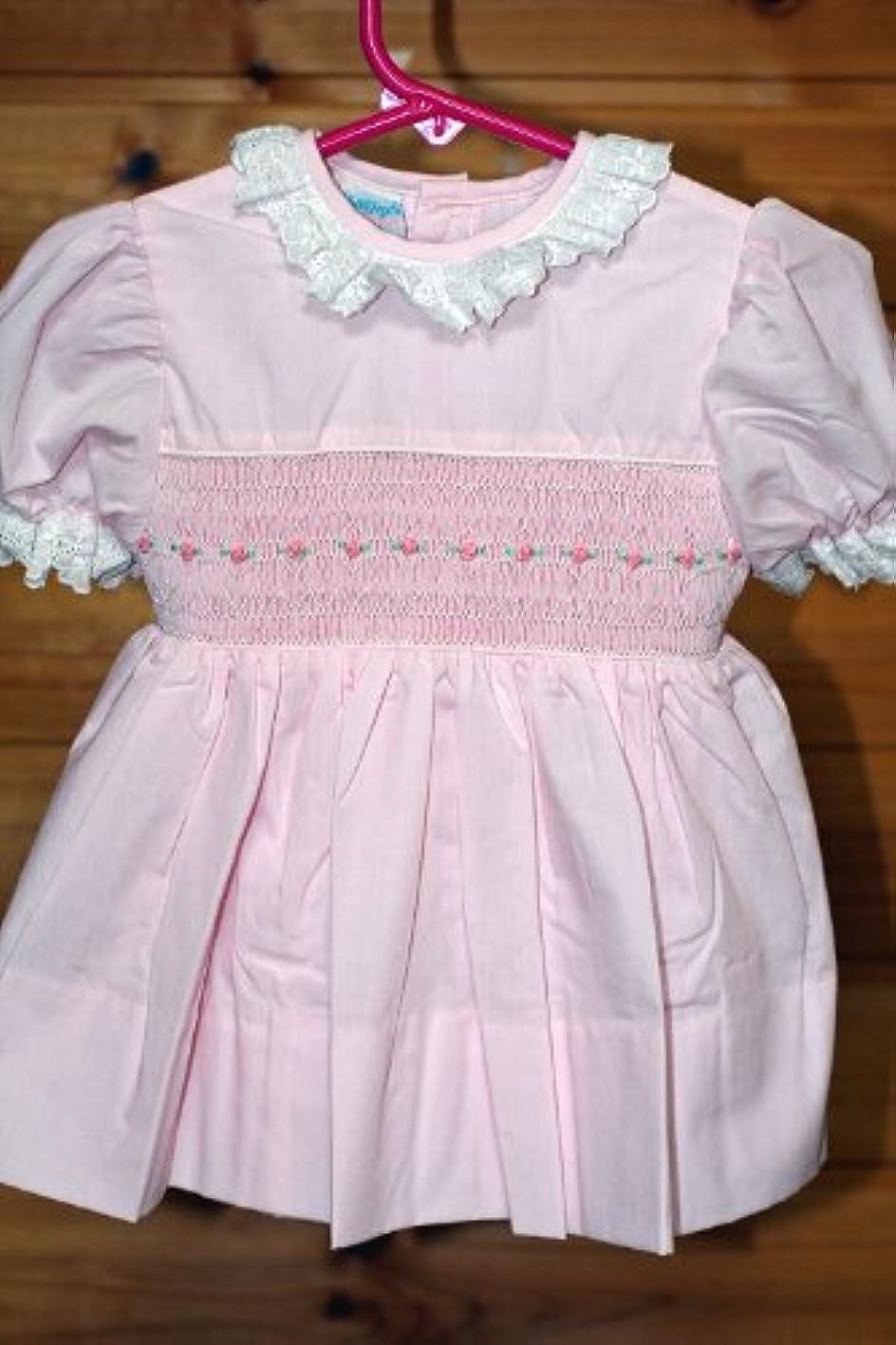 周術期プレビスサイト部ドレス スモッキングドレス レオノール ピンク