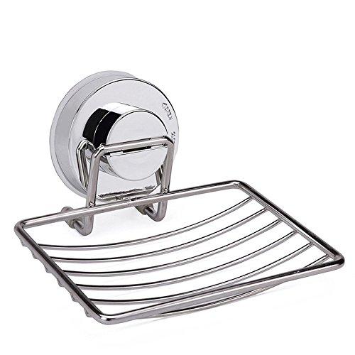 Fypo 石鹸置き 石鹸ホルダー 改良 強力 吸盤 強力吸着 水切り お風呂 バス用品 ステンレスステンレス