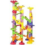 Beby 105pcs ビーズコースター おもちゃ ボリュームアップセット 子供 積み木 くるくる ラトルタワー 知育玩具
