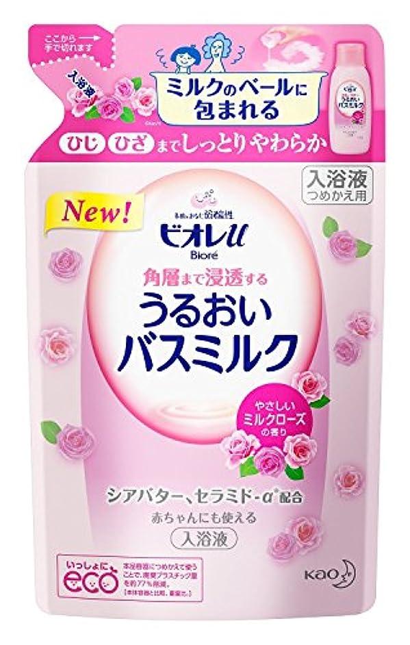 モルヒネ霧仕事【まとめ買い】ビオレu すべすべバスミルク ミルクローズつめかえ ×2セット