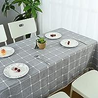 テーブルクロス テーブルカバー 長方形 正方形 北欧 防水 防油 防塵 耐熱 おしゃれ 縞柄 綿麻 汚れに強い ティーテーブル インテリア ダイニング/レストラン/食卓 ライトグレー60*60