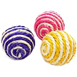 Bullidea 3x Sisal Cat Toys Cat Toys Quality Material Cat Toy Kitten Toy ball for Pet Cat Dog