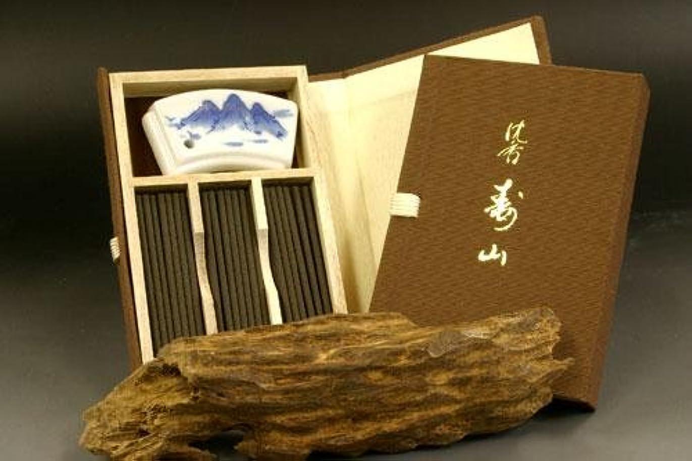 日本香堂のお香 沈香寿山 スティック ミニ寸 文庫型60本入り