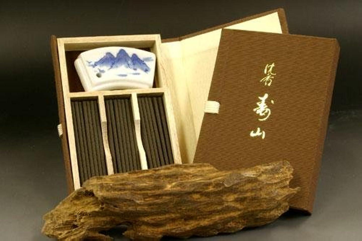 受け皿おとなしいタオル日本香堂のお香 沈香寿山 スティック ミニ寸 文庫型60本入り