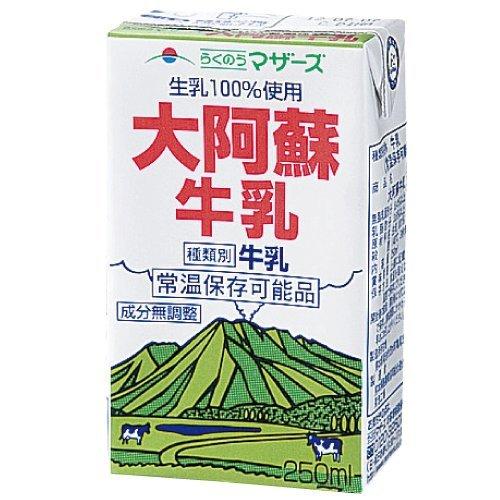 (ケース販売) LL大阿蘇牛乳250ml×24本
