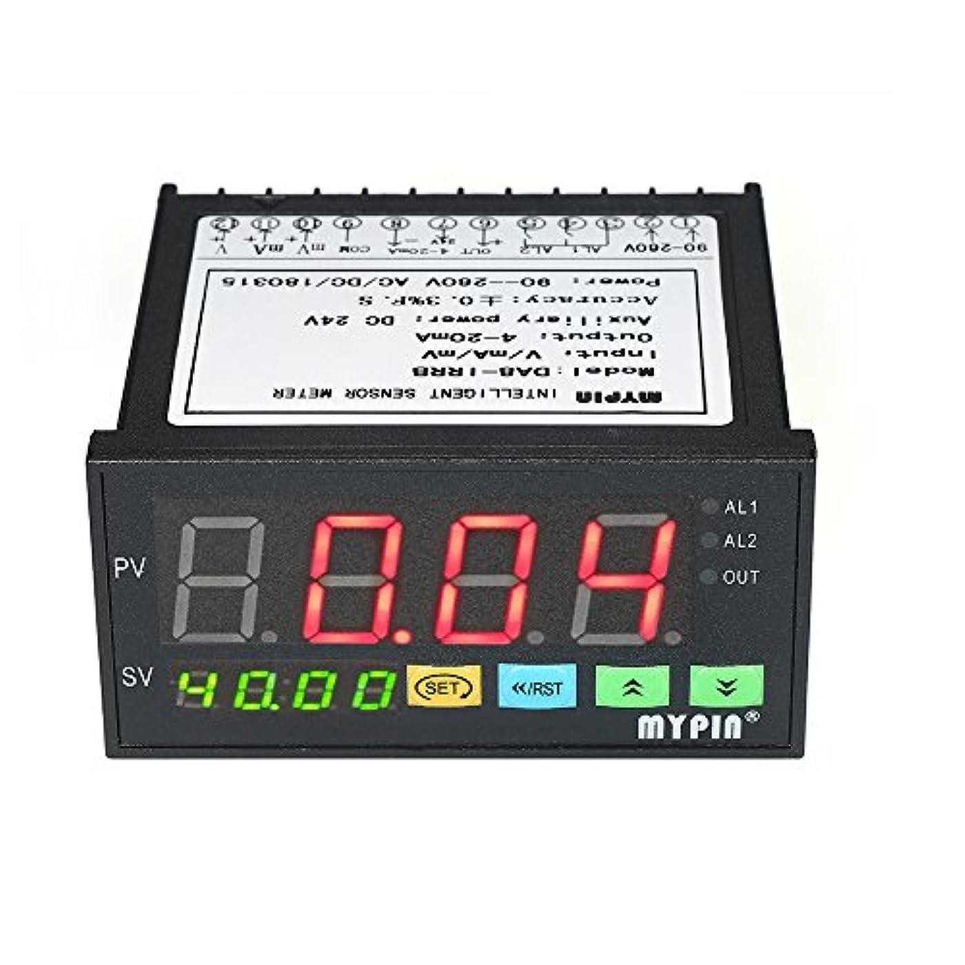 国際荷物赤外線Flytise 2つのリレーアラーム出力と0?10V / 4?20mA / 0?75mV入力の多機能デジタルLEDディスプレイセンサーメーター