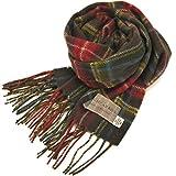 英国王室ご愛用 Lochcarron of scotland ロキャロン ラムズウール100% タータンチェックマフラー全42柄 (アンティークスチュアートブラウン)