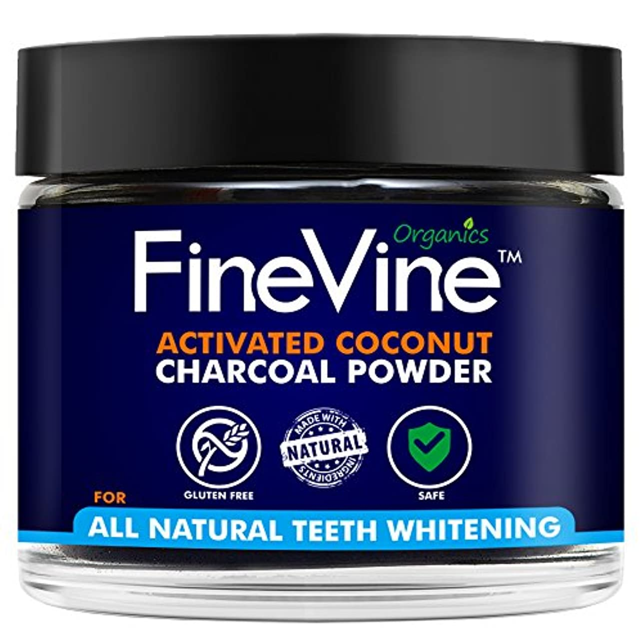 Activated Coconuts Charcoal Powder Made in USA Tooth Whitener Product (Peppermint)
