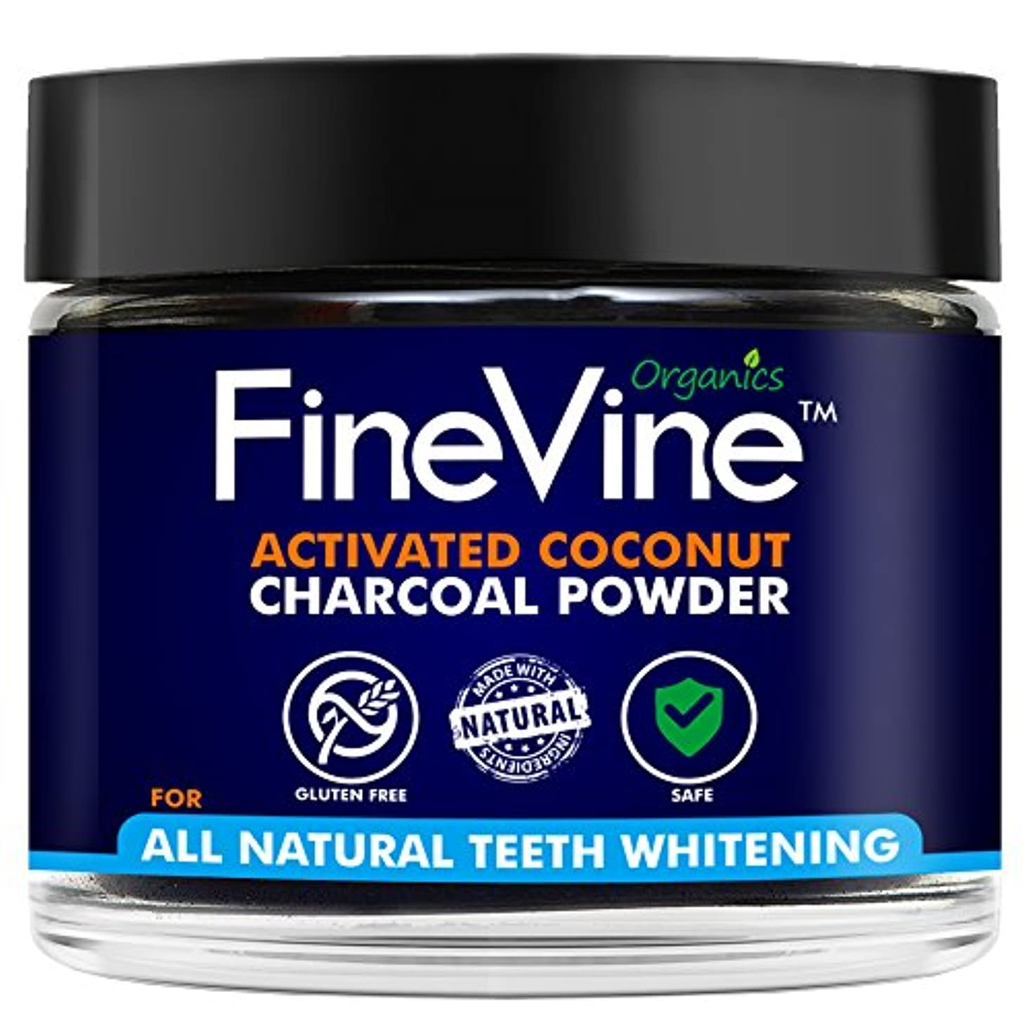 中で悲惨に頼るActivated Coconuts Charcoal Powder Made in USA Tooth Whitener Product (Peppermint)