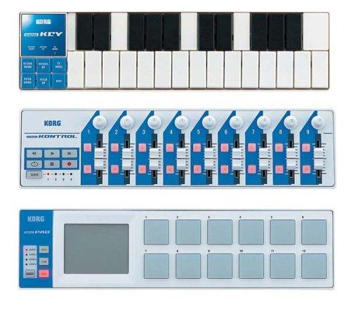 KORG スリム・ライン USB コントローラー/キーボード nanoSET White