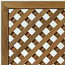 ウリン材 特注ラティスフェンス匠(目隠し)ななめ格子 木製(高さ+横幅=合計270cm以内)(高耐久ウッドフェンス)日本製