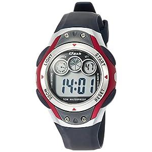 [アリアス]ALIAS 腕時計 デジタル DASH 5気圧防水 ウレタンベルト レッド ADWW17098-03 メンズ