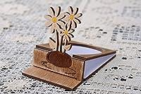 木製グリーティングカードChamomiles