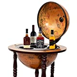 地球儀型 ワインバースタンド  Wood Globe Wine Bar Stand 16th Century Italian Rack Liquor Bottle Shelf