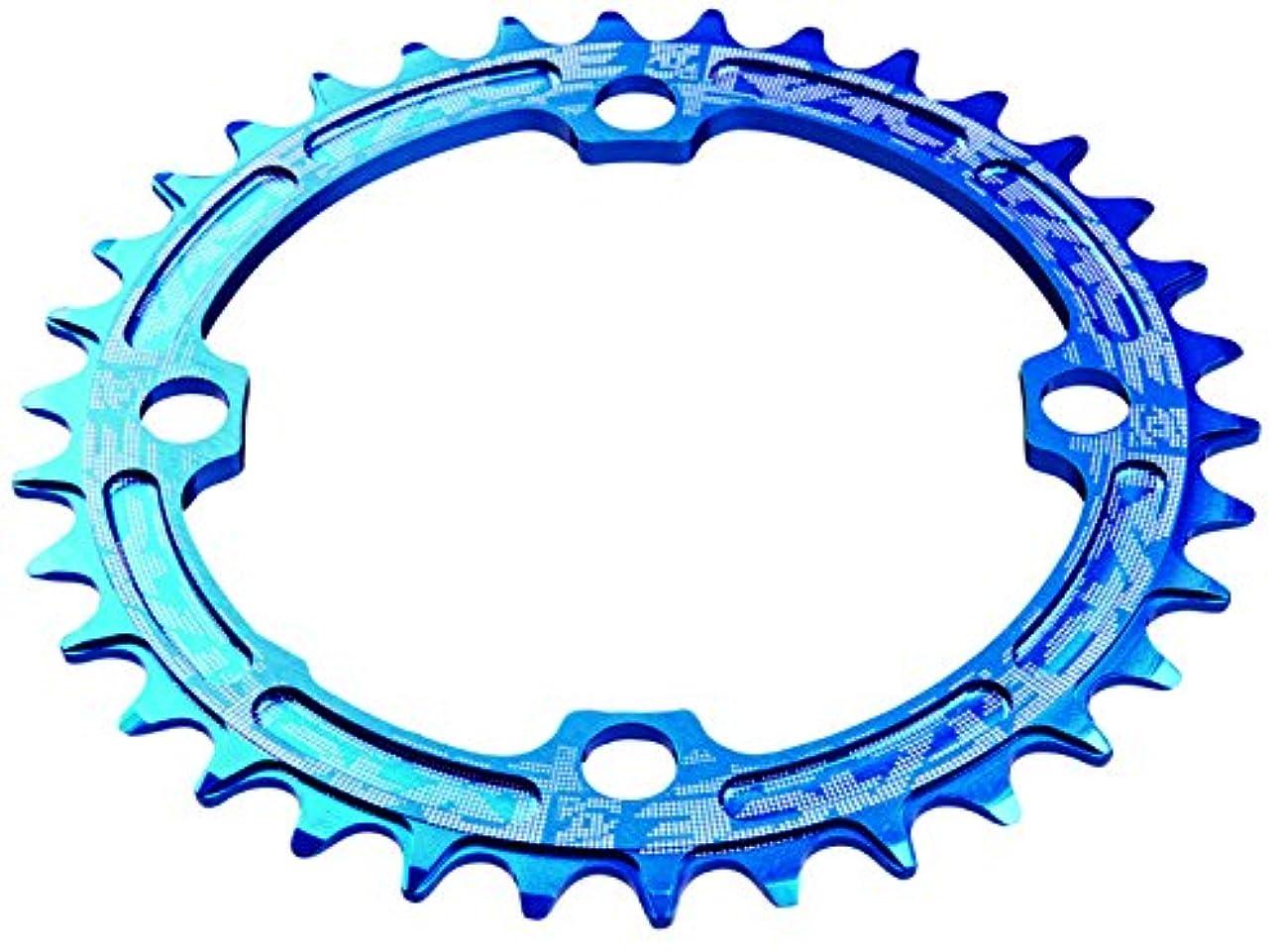 宣伝幹抑圧者RACE FACE(レースフェイス) SINGLE RING NARROW/WIDE 34T ブルー RRSNNW104X34BLU