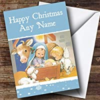 キュートNativity Scene Christmas GreetingsカードPersonalized