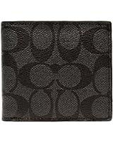 [コーチ] COACH 財布(二つ折り財布) F75006 チャコール×ブラック シグネチャーPVC レザー コイン ウォレット メンズ [アウトレット品] [ブランド] [並行輸入品]