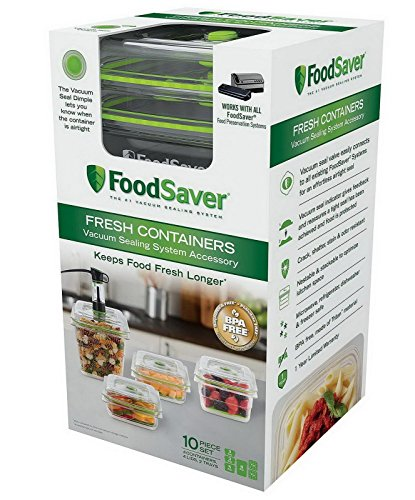 RoomClip商品情報 - FoodSaver Fresh Containers Vacuum Sealing, Works with All FoodSaver, 10 Piece Set