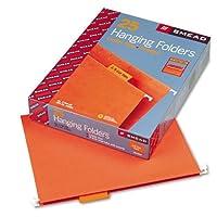 Smead : Hangingファイルフォルダ、1/ 5タブ、11点ストック、文字、オレンジ、25perボックス–: -の2パックとして販売–25–/–Total of 50各