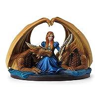 Veronese (ヴェロネーゼ) 王女に忠誠を誓う双竜 翼 アン・ストークス ファンタジー 置物 フィギュア