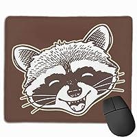 Raccoon フェイス マウスパッド マット