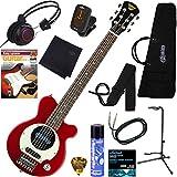 PIGNOSE アンプ内蔵エレキギター ヘッドフォン付きだから夜でも気兼ねなく弾ける 充実の12点セット PGG-200/CA(キャンディアップルレッド)