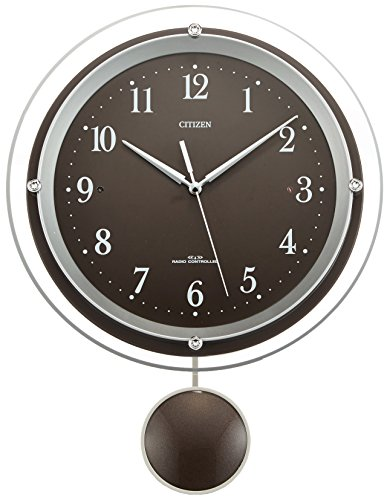 CITIZEN(シチズン) 電波掛け時計 パルミューズスイング 振り子時計 ブラウン 8MX401-006