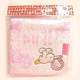 ハローキティ★こうのとりキティジャガードタオル(ピンク) Hello Kitty ミニタオル