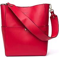 BOSTANTEN Women's Leather Handbags Tote Purses Shoulder Bucket Bags