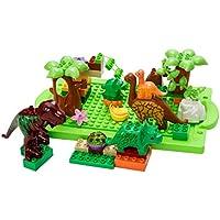 【ノーブランド 品】子供 恐竜 ジュラ紀 テーマ プラスチック製 ビルディング ブロック おもちゃ 40個 セット